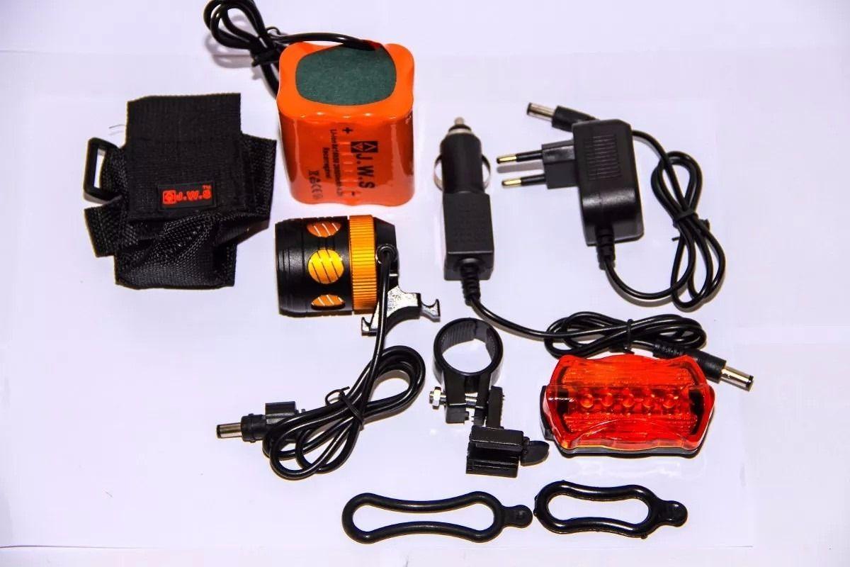 Farol de Bicicleta WS138 e Lanterna de Cabeça - JWS