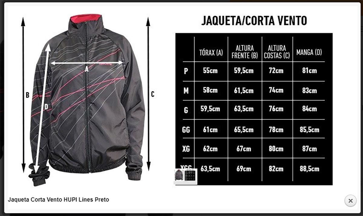 Jaqueta Corta Vento Lines - Hupi