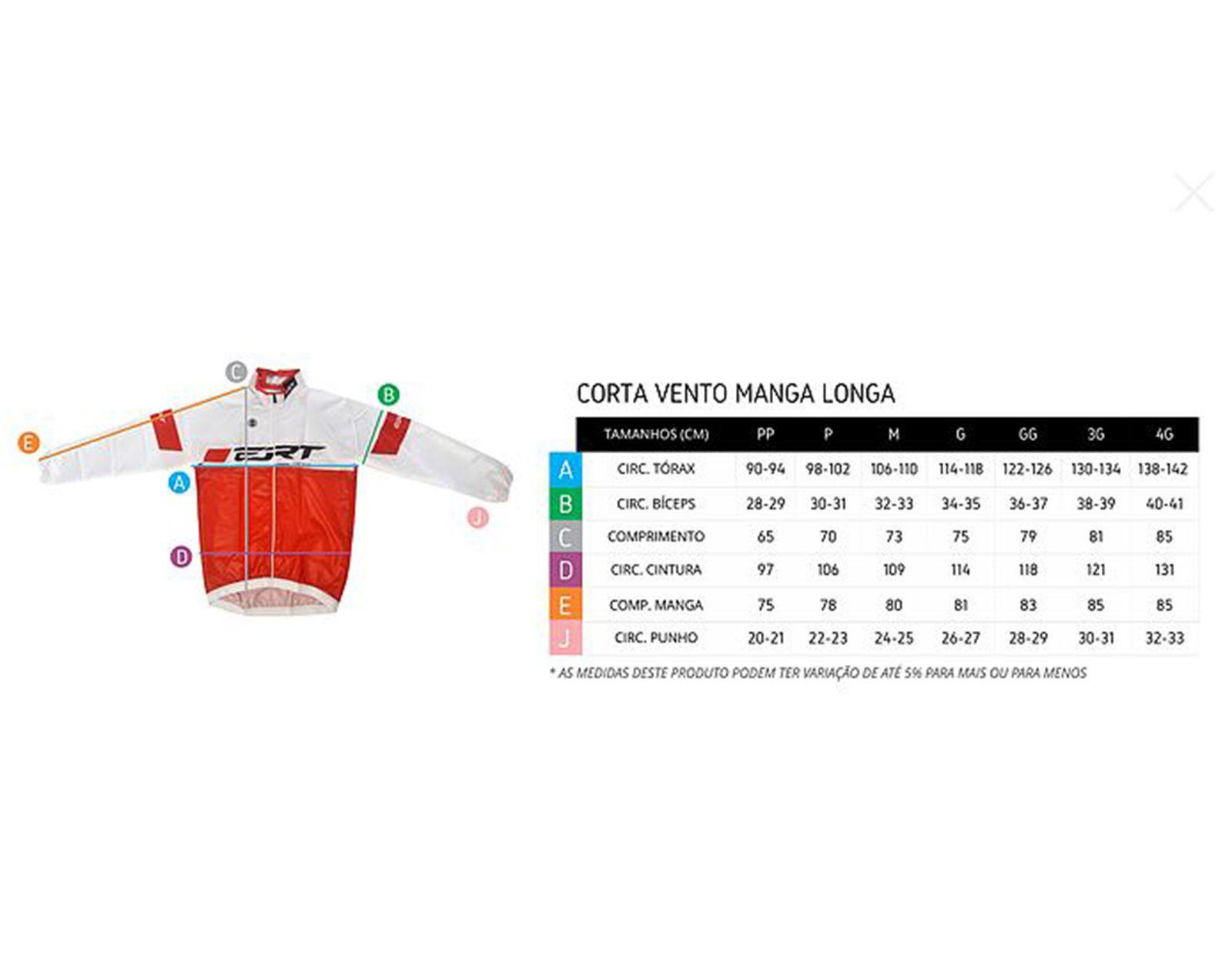 CORTA VENTO RACING TEAM PRETO/CINZA - ERT