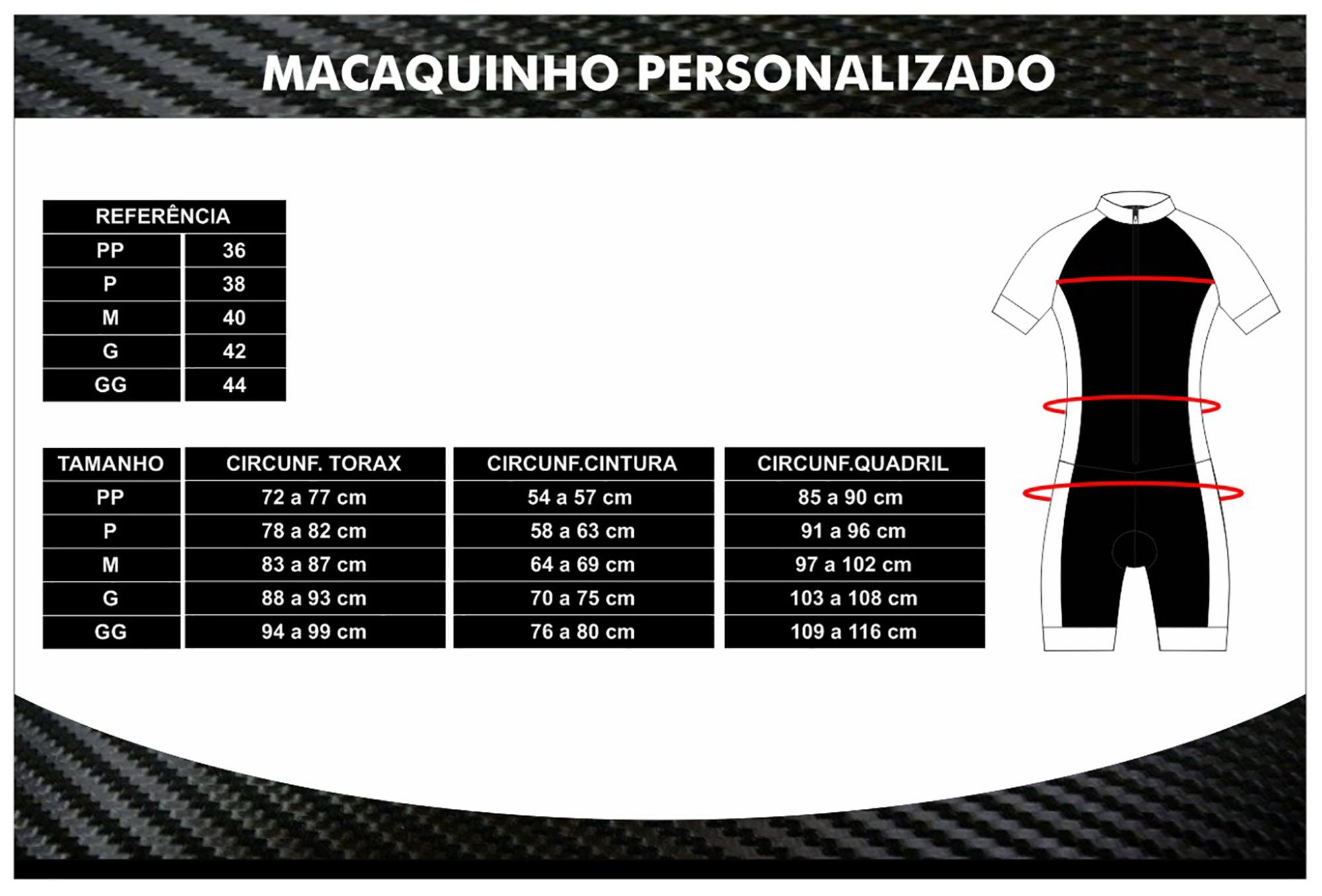 Macacão Ciclismo Pix  Manga Longa - Ciclopp