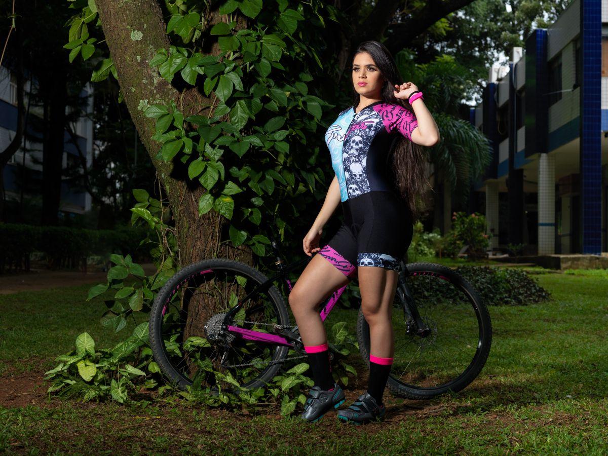 Macaquinho Ciclismo Caveira Tradicional - Brutas