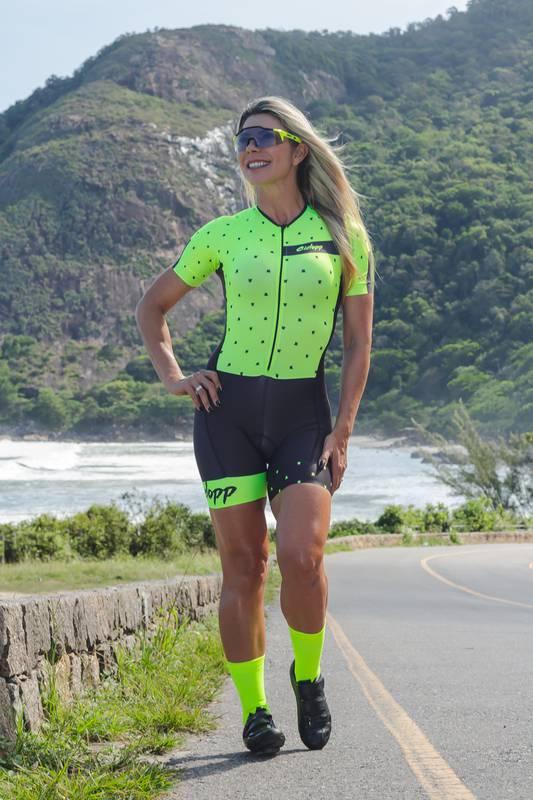 Macaquinho Ciclismo Essential Preto/Amarelo - Ciclopp