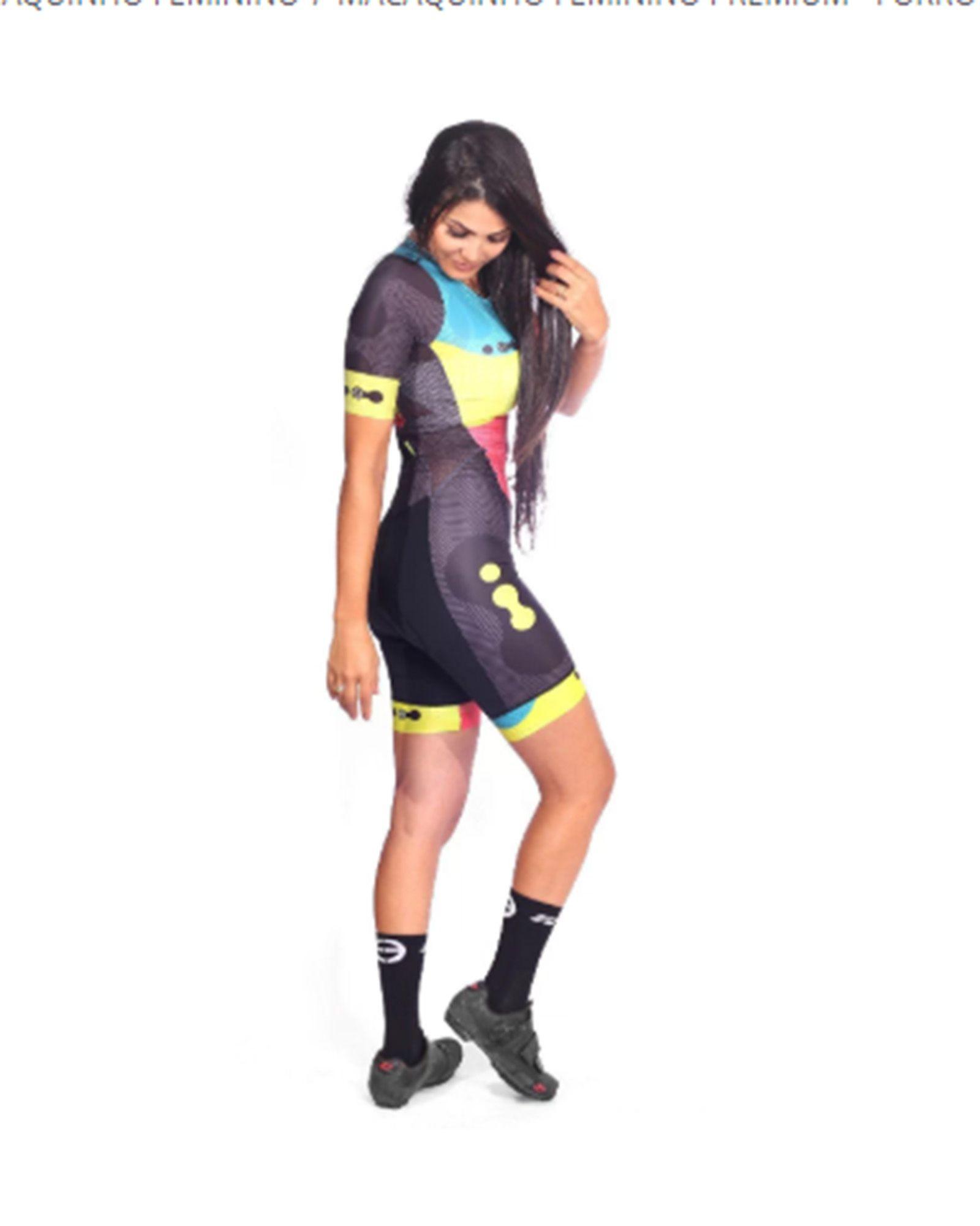 Macaquinho Ciclismo Feminino Premium Pro Team Femme (FORRO GEL) - ERT