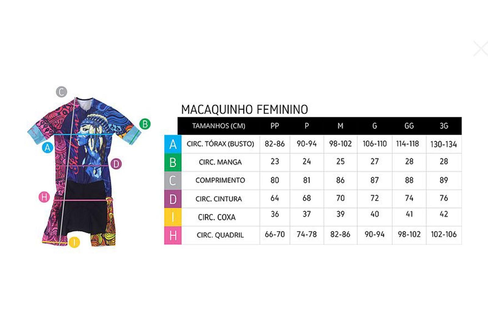Macaquinho Ciclismo Feminino Premium Pro Team Preto/Rosa (FORRO GEL) - ERT