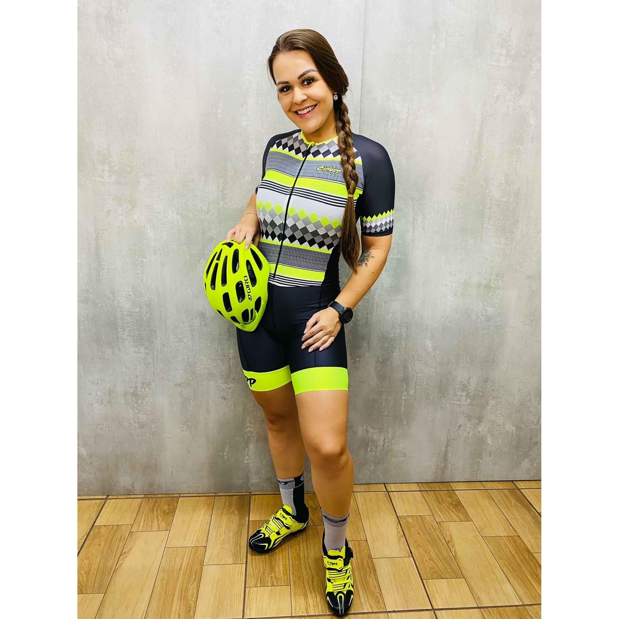 Macaquinho Ciclismo Level Preto/Amarelo - Ciclopp
