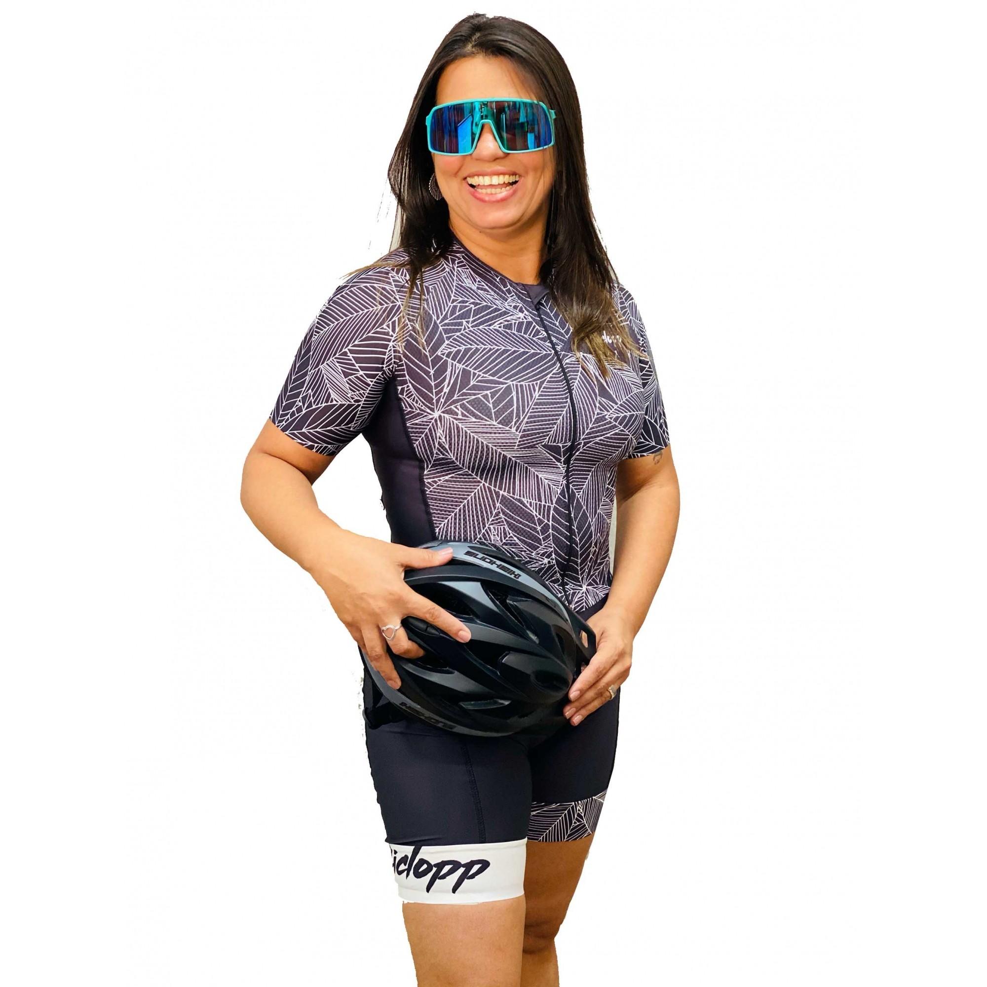Macaquinho Ciclismo Verano Preto/Branco - Ciclopp