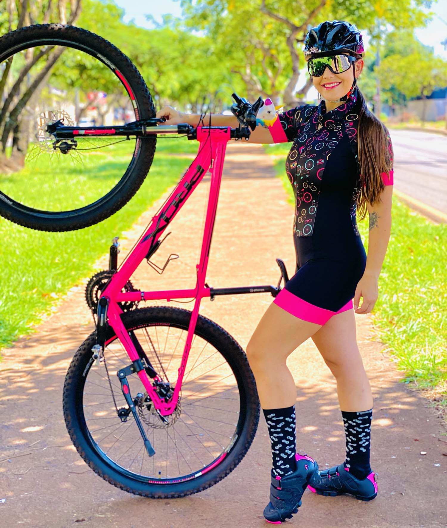 Macaquinho Feminino Ciclismo Bike Clik - Giro Radical