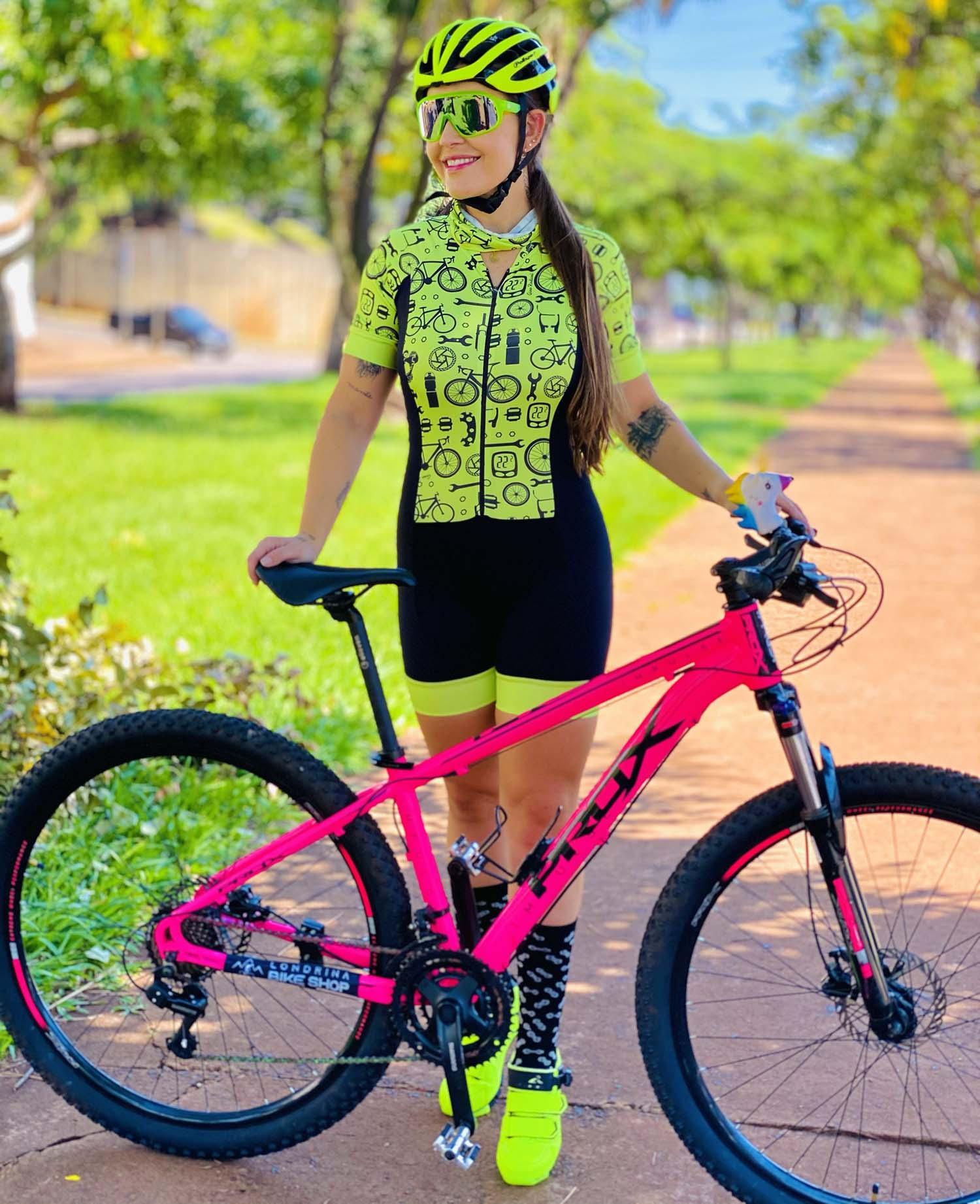 Macaquinho Feminino Ciclismo Bike Revisão Green - Giro Radical
