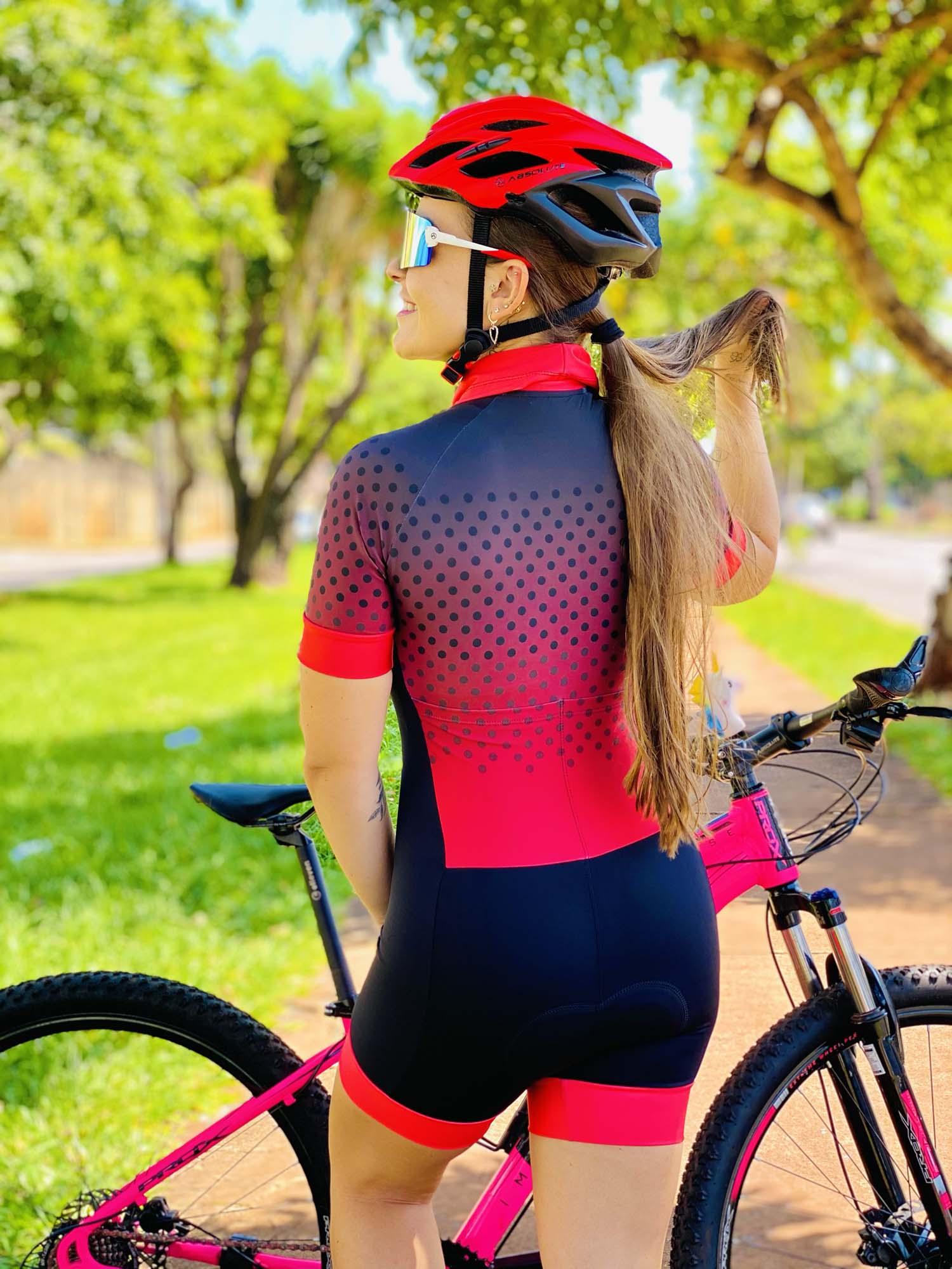 Macaquinho Feminino Ciclismo Degradê Poá - Giro Radical