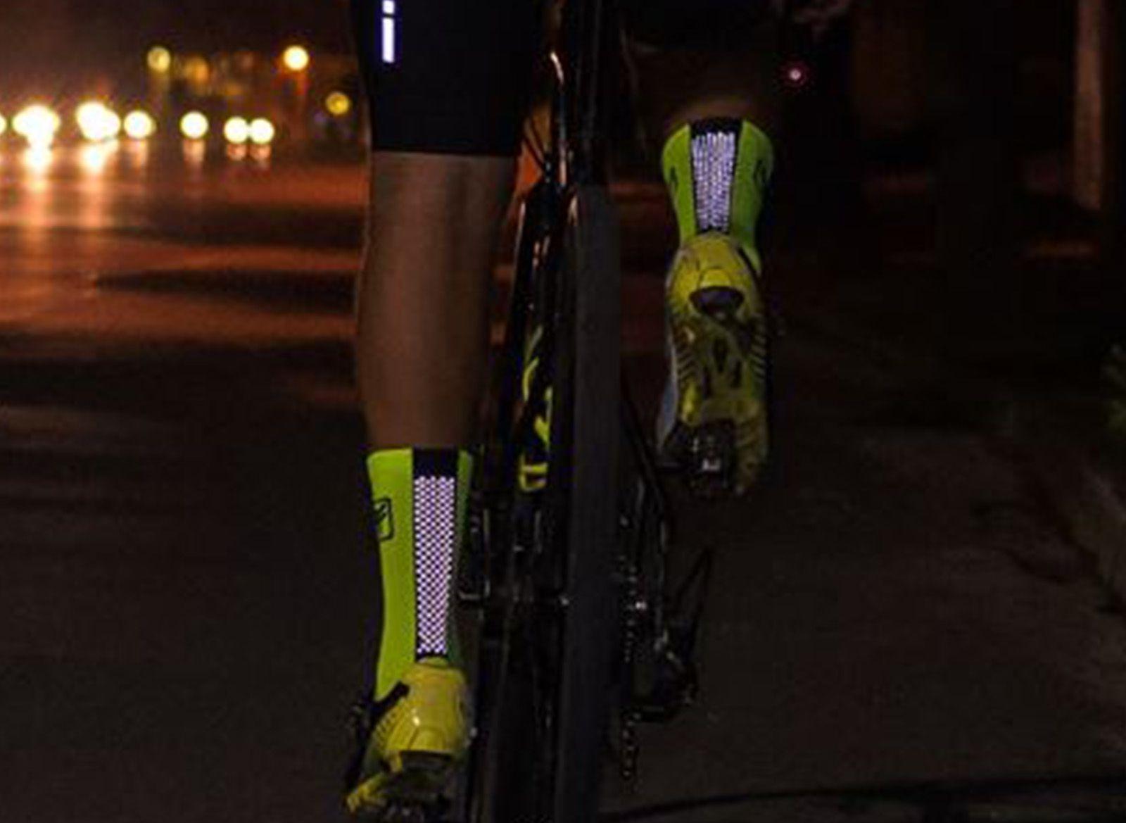 Meia Ciclismo com Refletivo Pixel Free Force