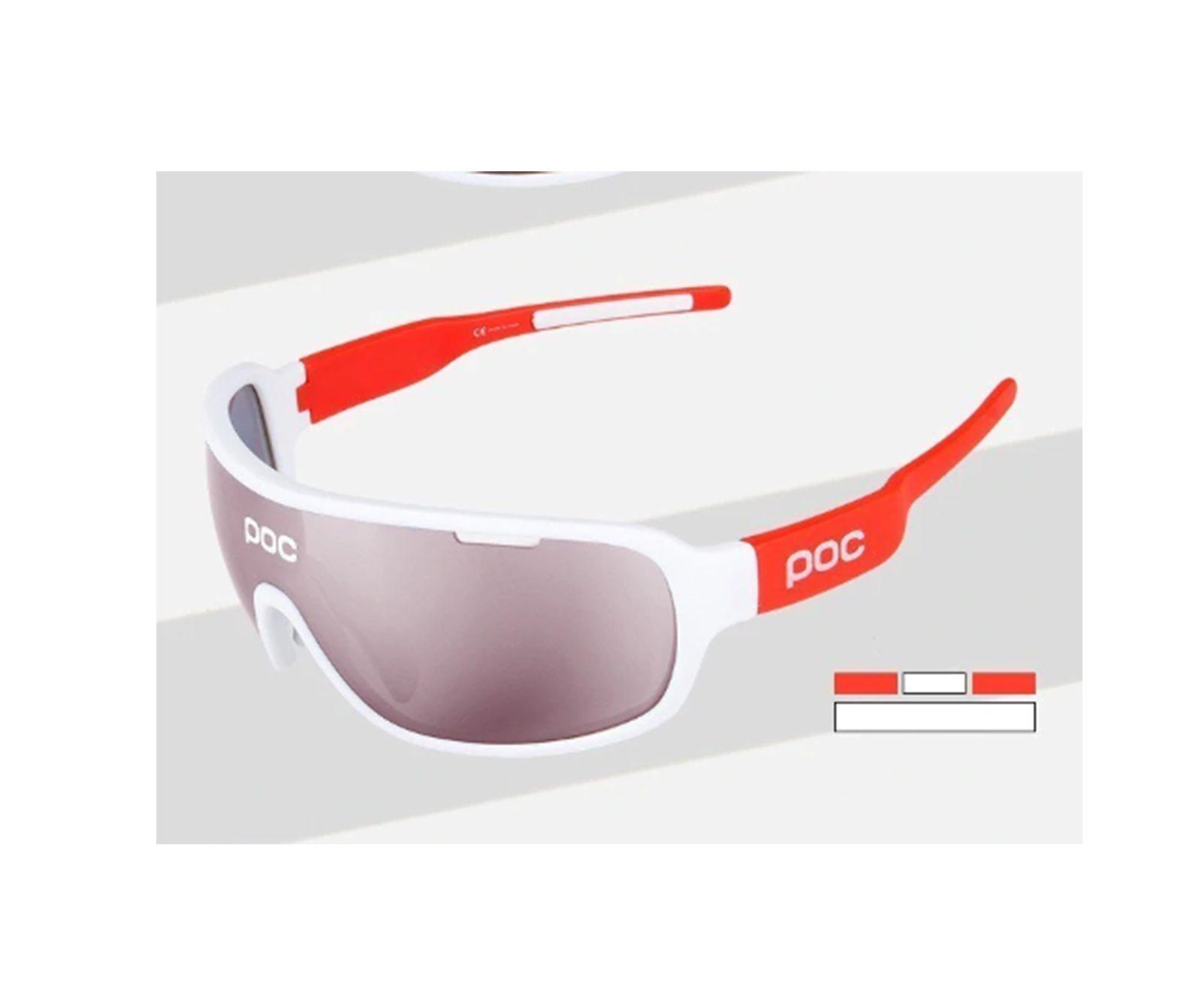 Óculos Ciclismo com 3 lentes e Estojo Varias Cores - POC