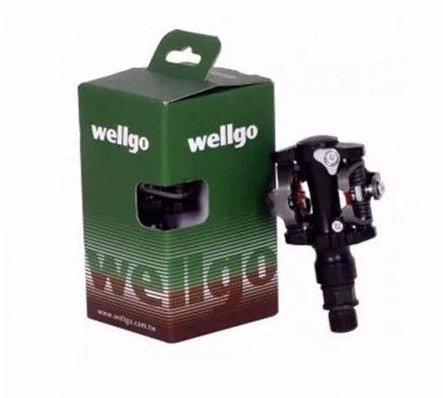 Pedal Clip MTB Alumínio com Tacos - Wellgo