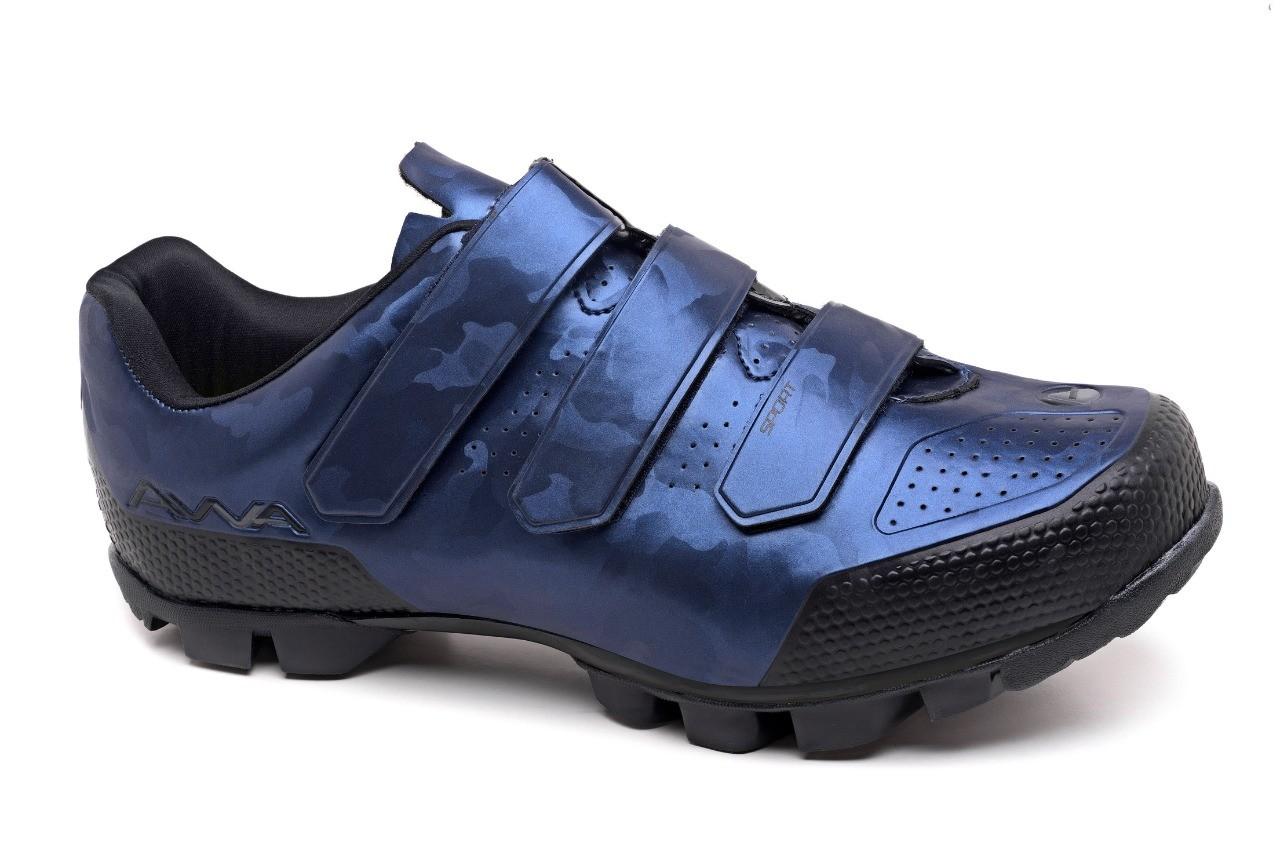 Sapatilha Ciclismo Soft MTB Azul Camuflado - Avva
