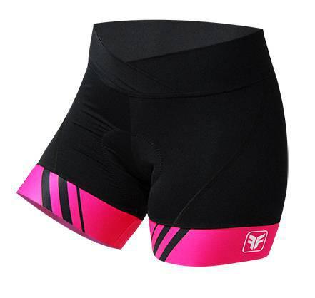 Short Ciclismo Feminino Stripes Preto/Pink - Free Force