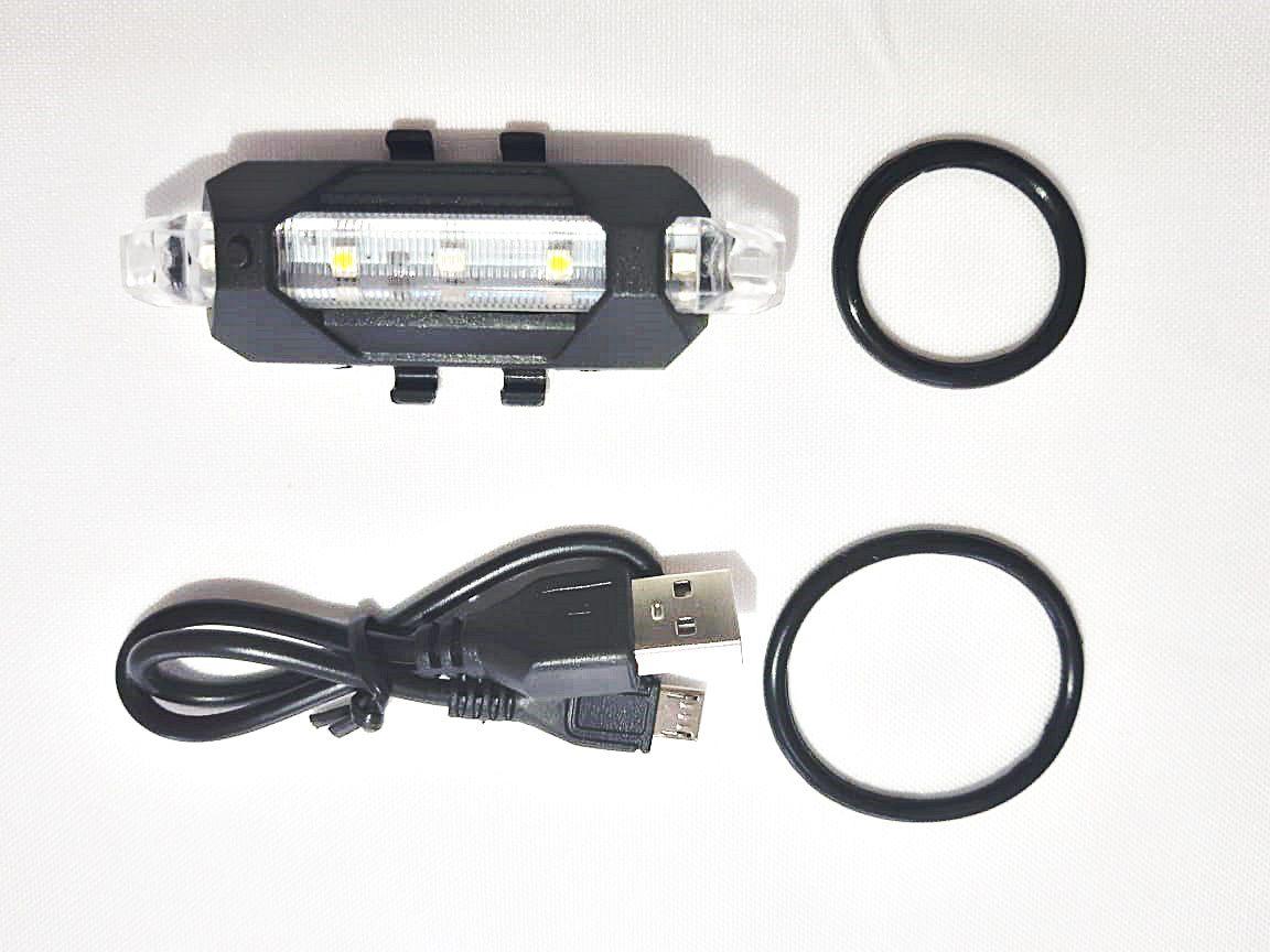 Sinalizador Traseiro 50 Lumens Recarregável USB - JWS