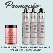 3 LIPOTERAPIA - GANHE 1 BANHO DE VERNIZ + FRETE