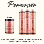 3 LISOTERAPIA - GANHE 1 BANHO DE VERNIZ + FRETE
