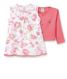 Conjunto  Body  vestido com casaqueto Pingo Lelê  Floral  / Tamanho G