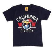 Camiseta Brandili Infantil Califórnia Pica Pau Marinho  / Tamanho 3