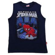 Camiseta Brandili Infantil Ultramate Spider-man marinho  / Tamanho 4