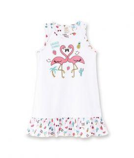 Camisola Pingo Lelê Flamingo Brilha no Escuro
