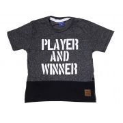 Camiseta Infantil Moulinê TMX Player Preto / Tamanho 8