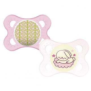 Chupeta MAM Night & Day - Dupla  (0 a 6 meses) Rosa