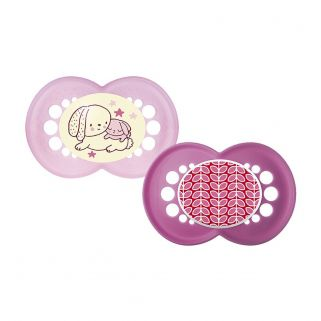 Chupeta MAM Night & Day - Dupla  (6+ meses) Rosa