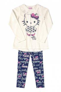 Conjunto Blusa e legging Hello Kitty Marinho/floral