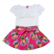 Conjunto Blusa e Saia-Shorts TMX  Just Believe Pink  / Tamanho 6