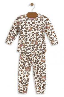 Conjunto Blusão e Calça Hello Kitty Baby em plush Oncinha