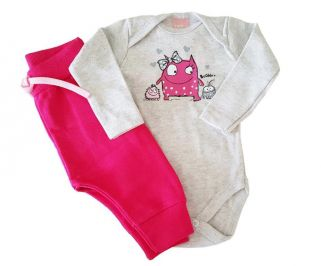 Conjunto  Body e Calça  Saruel TMX Pink/Mescla