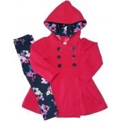 Conjunto Casaco Moletom e Legging Molecotton TMX Pink Floral aa6660bca30