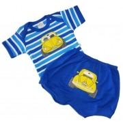 Kit Body Best Club e Short Carrinho Azul