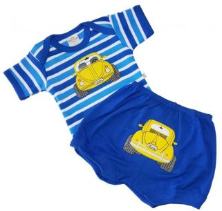 Kit Body Best Club e Short Carrinho Azul