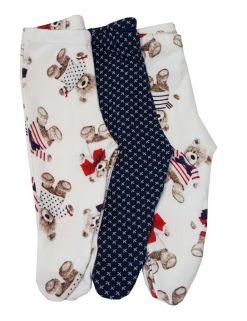 Kit calça Coquelicot 3 peças com pé Ursinho / Tamanho M