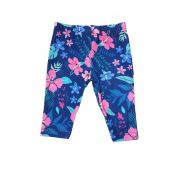 Legging  Capri Infantil TMX  Floral Marinho / Tamanho 4