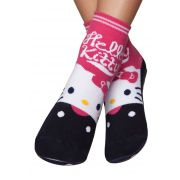 Meia Puket Pansocks Hello Kitty / Tamanho 22 a 25