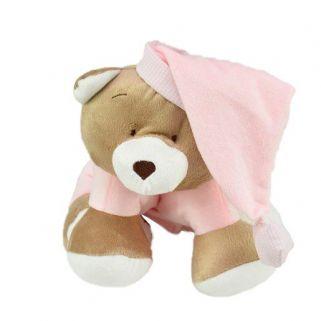 Meu 1° Puppet  Zip Toys Urso Nino Rosa