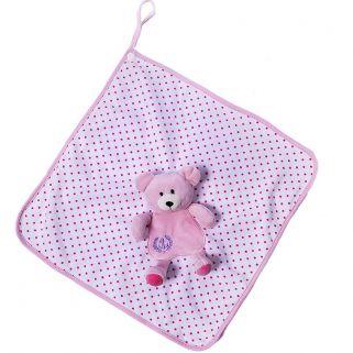 Naninha Cetim Zip Toys  Poa Urso Rosa