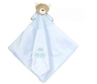 Naninha Plush Zip Toys Urso Nino Azul