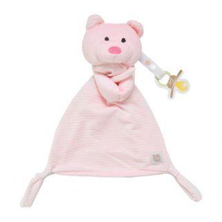 Naninha Zip Toys  Urso Listrado Rosa