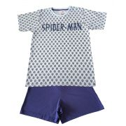 Pijama Curto Adulto Evanilda  Marvel Spiderman Marinho/azul