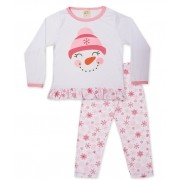 Pijama Pingo Lelê Manga longa e calça Boneco de Neve