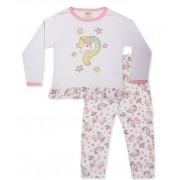 Pijama Pingo Lelê Manga longa e calça Unicórnio / Tamanho 2