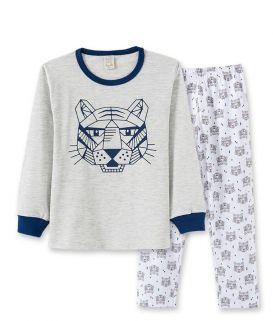 Pijama  Pingo Lelê Tigre Mescla