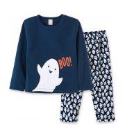 Pijama Soft Pingo Lelê Fantasminha Marinho - Tamanho 12