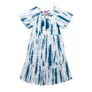Vestido  em malha flamê Hello Kitty  Azul