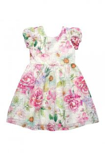 Vestido em tecido organza  Quimby Floral / Tamanho 10