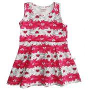 Vestido Brandili Infantil floral rosa/branco  / Tamanho 3